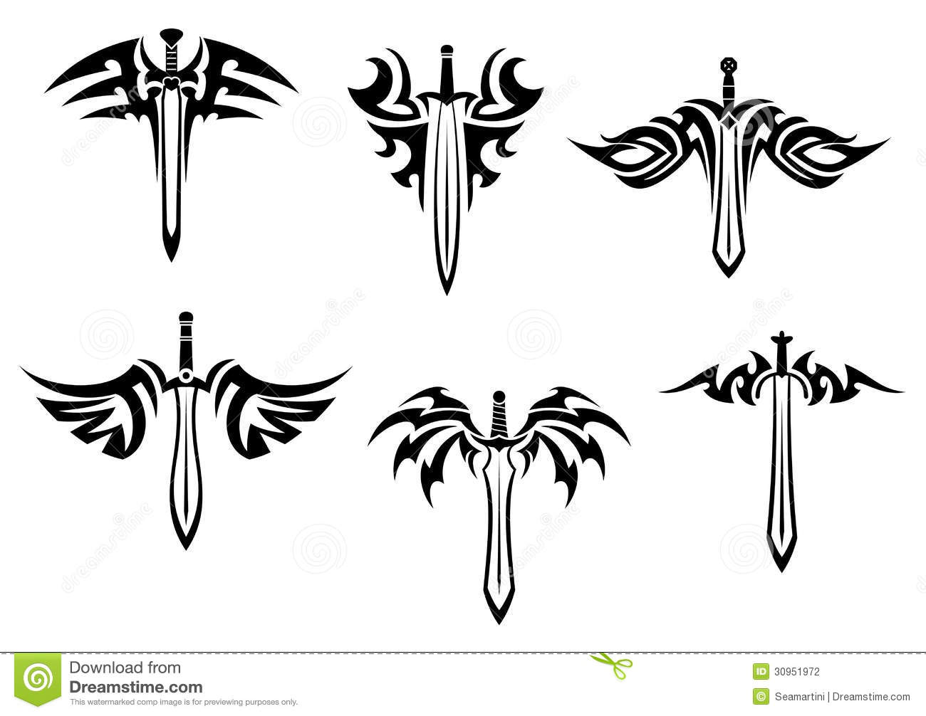 Tribal-Tattoos tribal-tattoos-swords-daggers-design-30951972