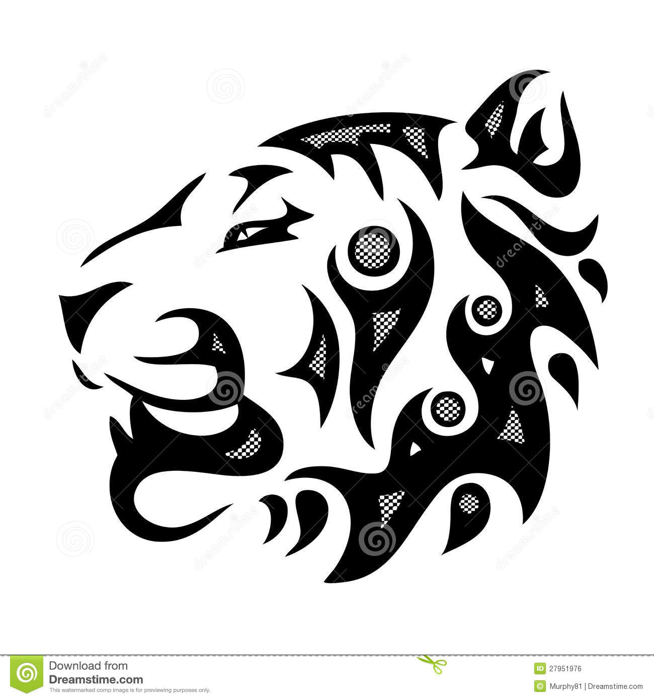 tribal tiger head stock vector illustration of aggression 27951976. Black Bedroom Furniture Sets. Home Design Ideas