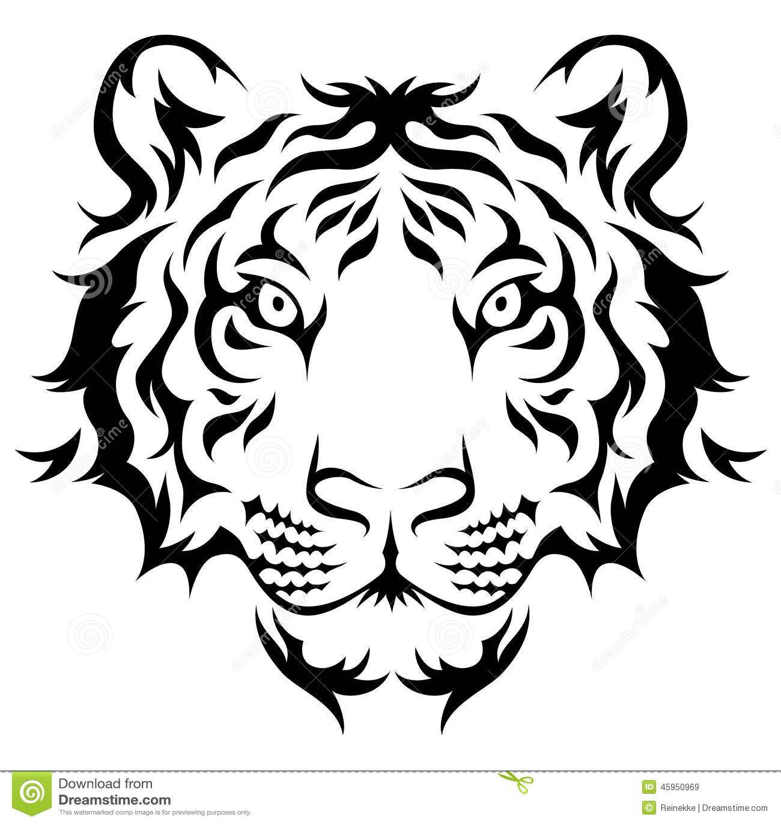 44832d2dc Tribal tiger stock vector. Illustration of white, striped - 45950969
