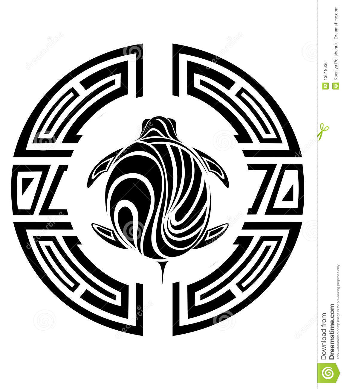 Tribal Turtle Tattoo Stock Vector Illustration Of Illustration