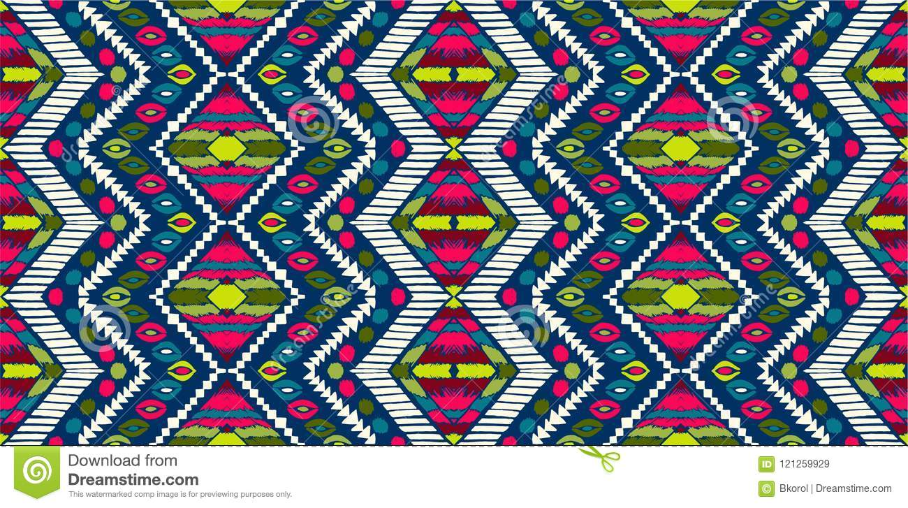 Tribal Vector Ornament Seamless African Pattern Ethnic