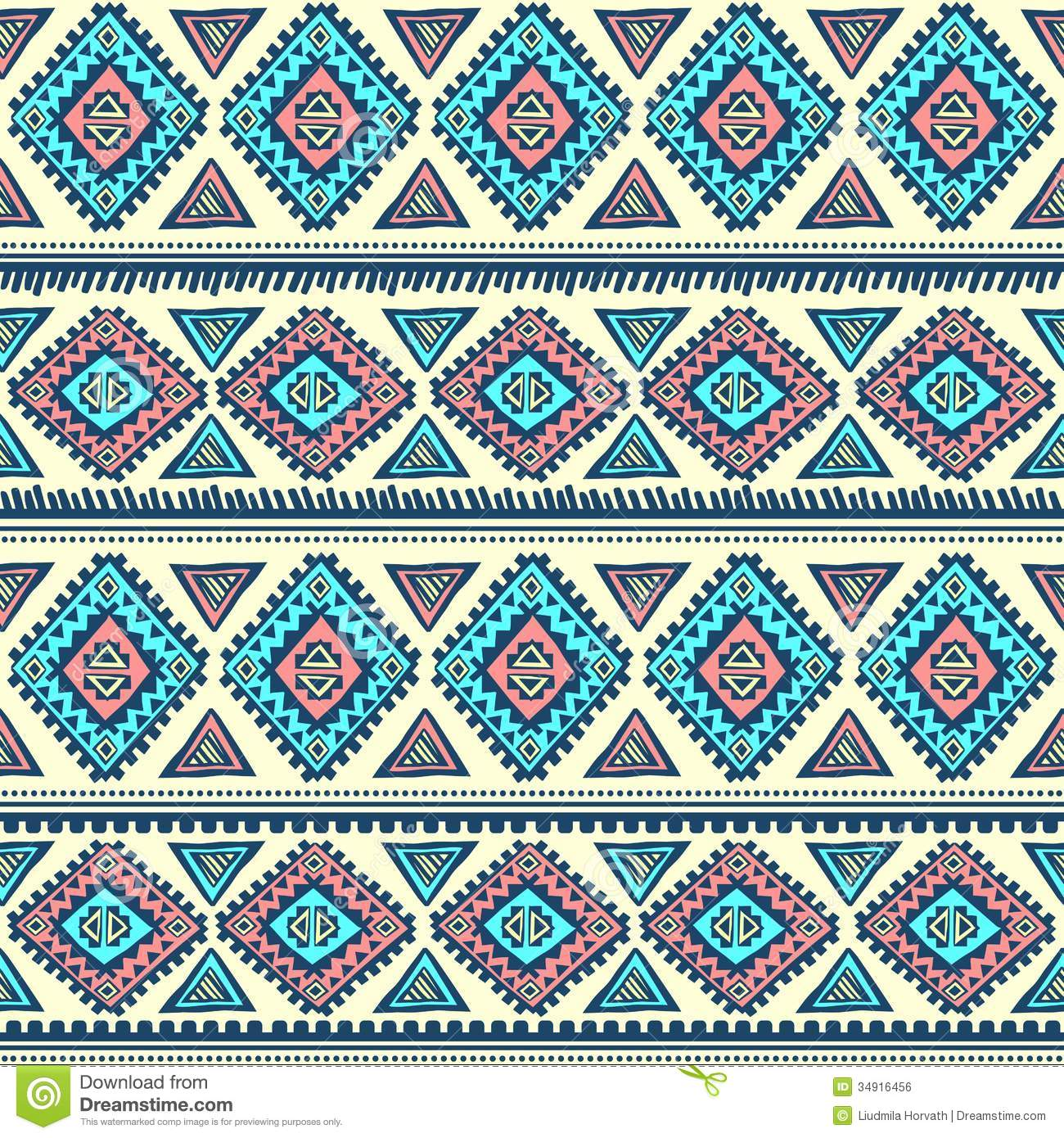 Tribal vintage ethnic pattern seamless illustration for your business.