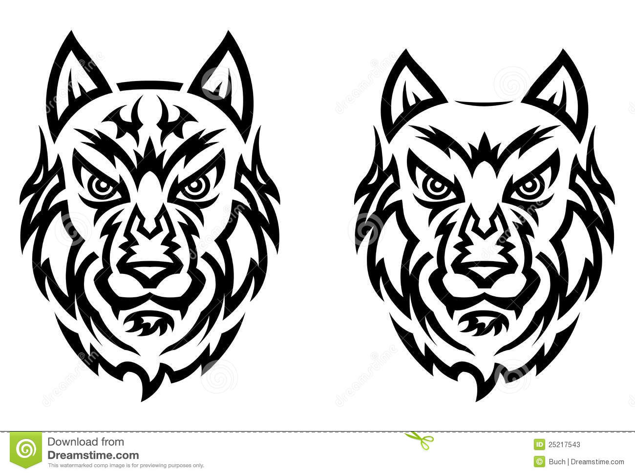 Tribal Wolf Tattoo Stock Photos - Image: 25217543