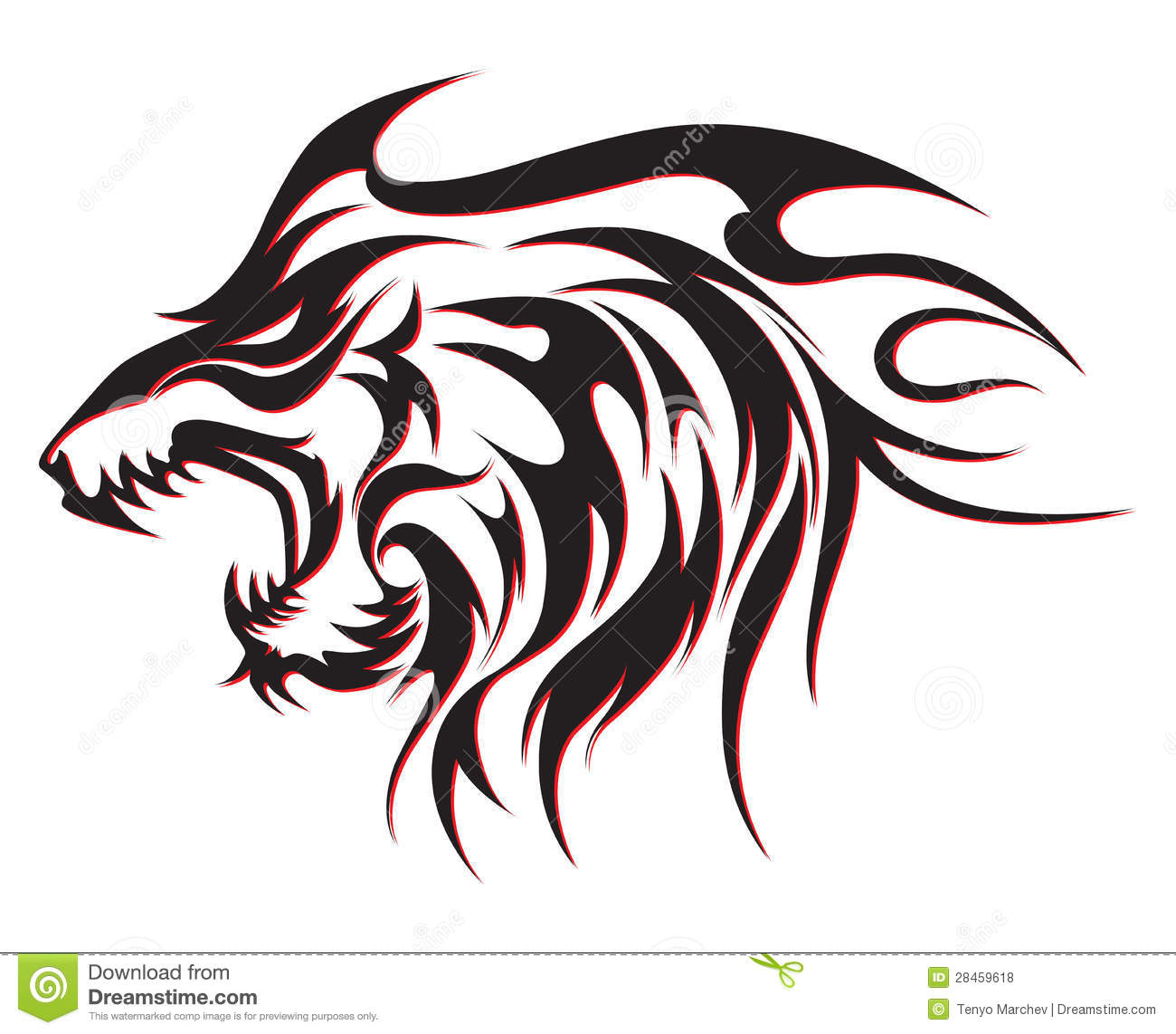 tribal wolf tattoo royalty free stock photos image 28459618. Black Bedroom Furniture Sets. Home Design Ideas