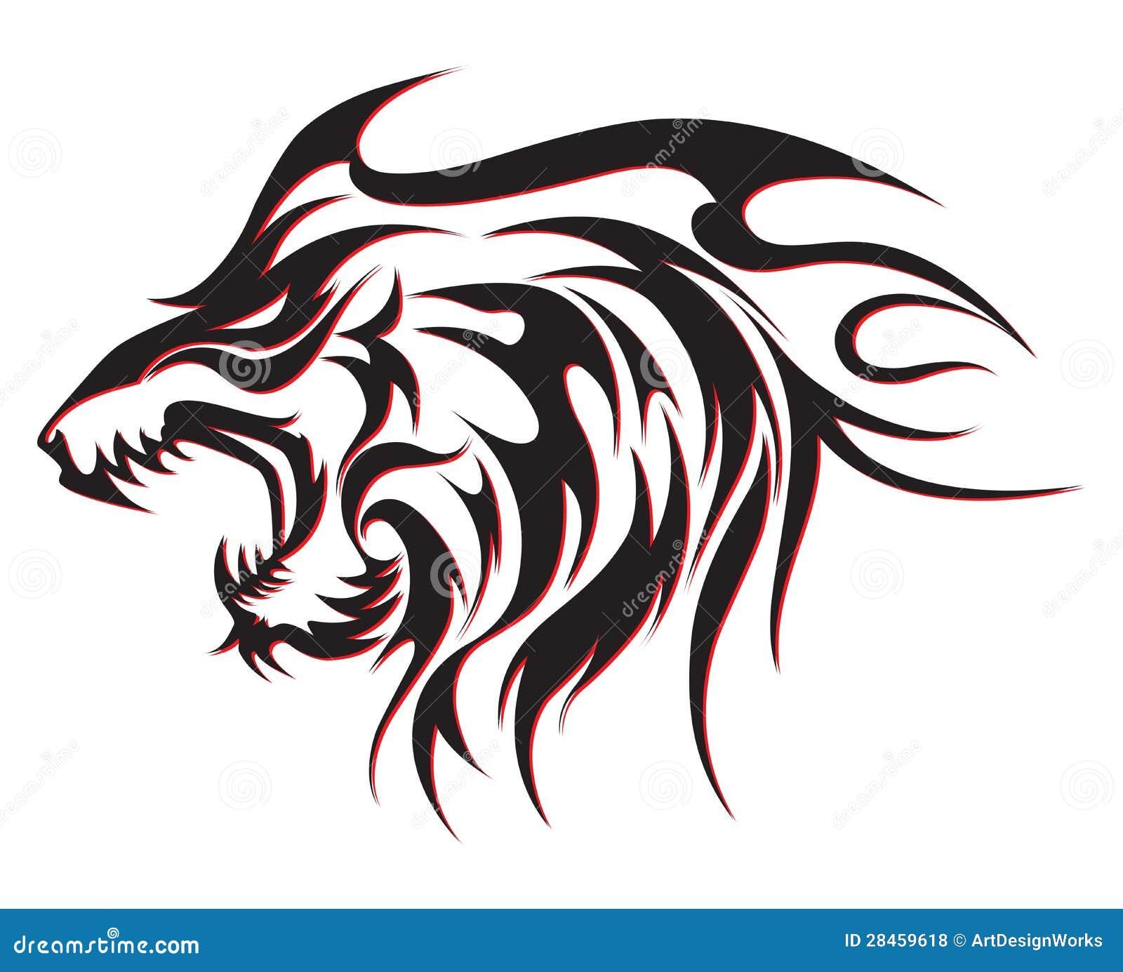 Tribalwolf tatuering