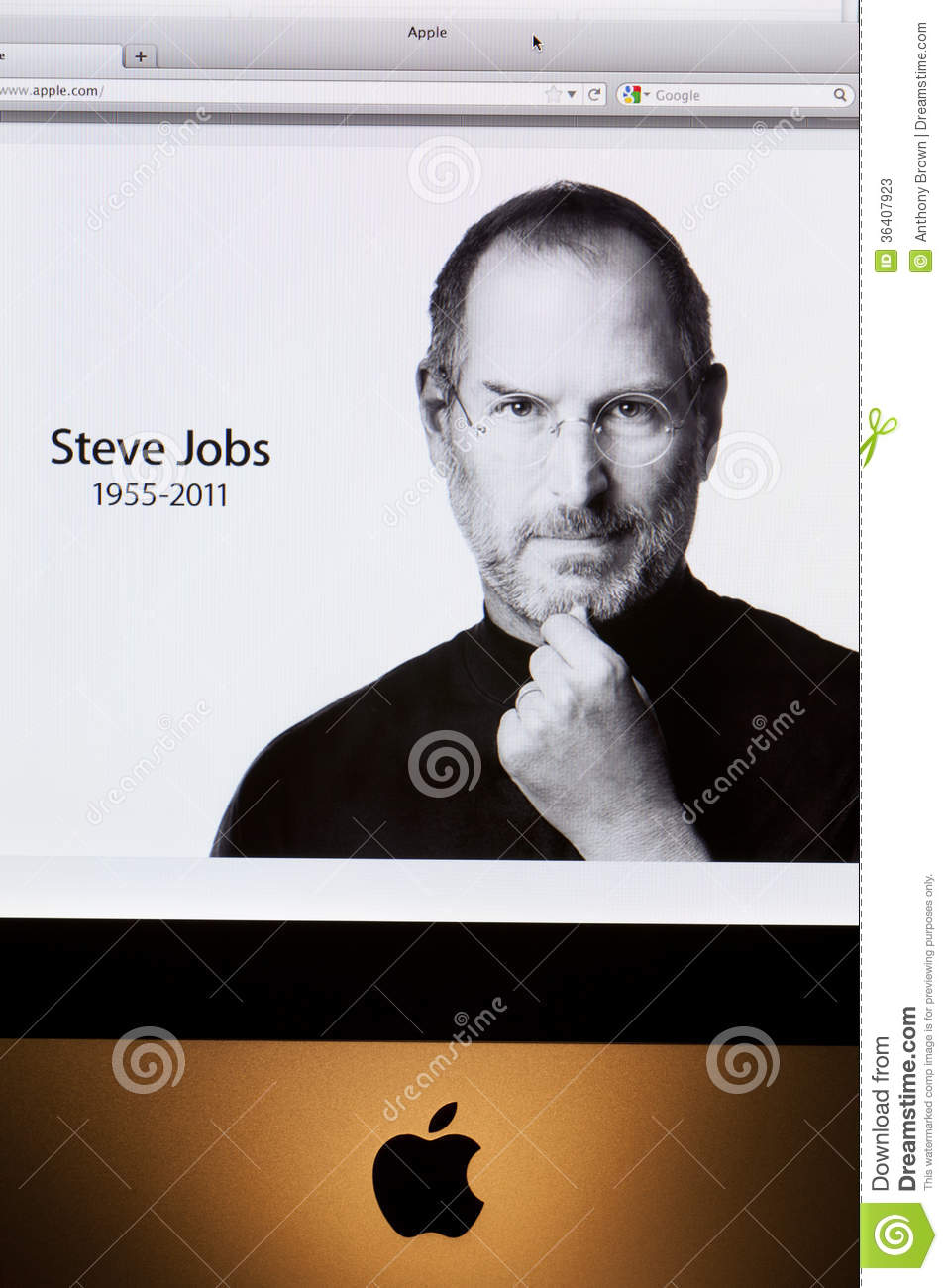 Tributo del sito Web di Apple a Steve Jobs
