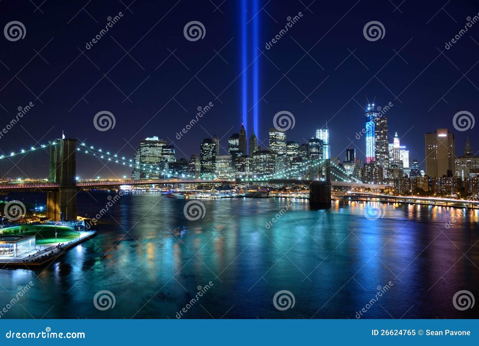 Tributo di New York City all indicatore luminoso