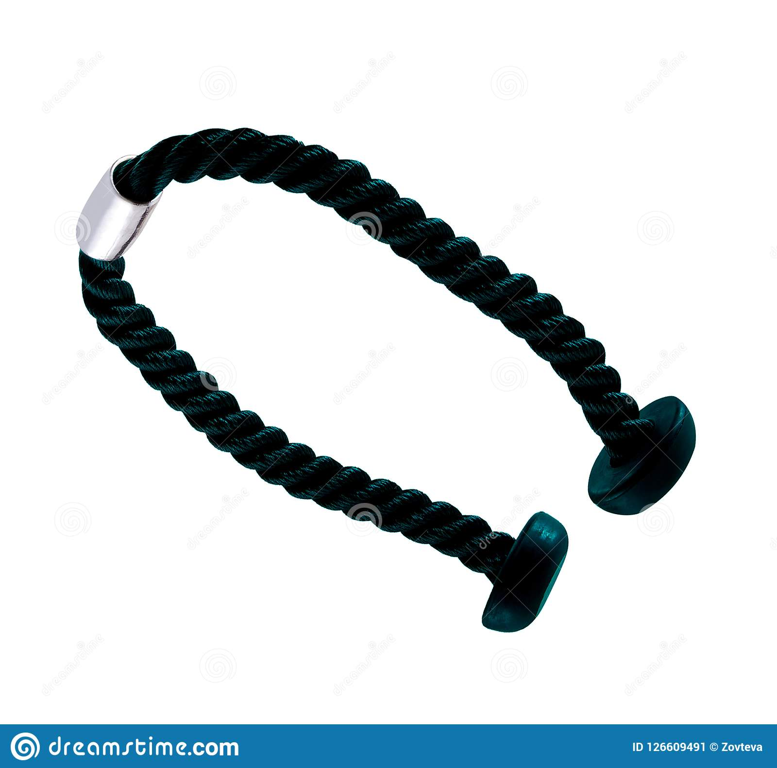 Triceps Extension Rope Isolated Stock Image - Image of ...