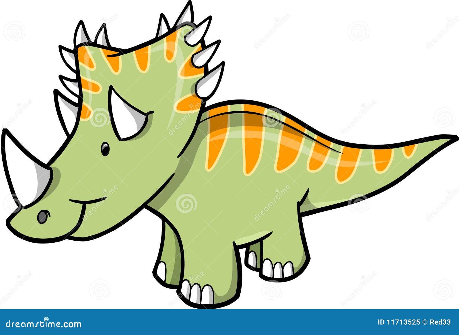 triceratopsdinosauriervektor vektor abbildung