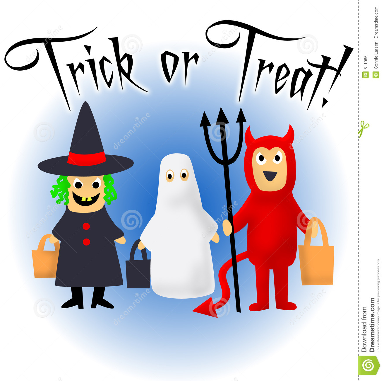 trick or treat stock illustration illustration of trick 611066