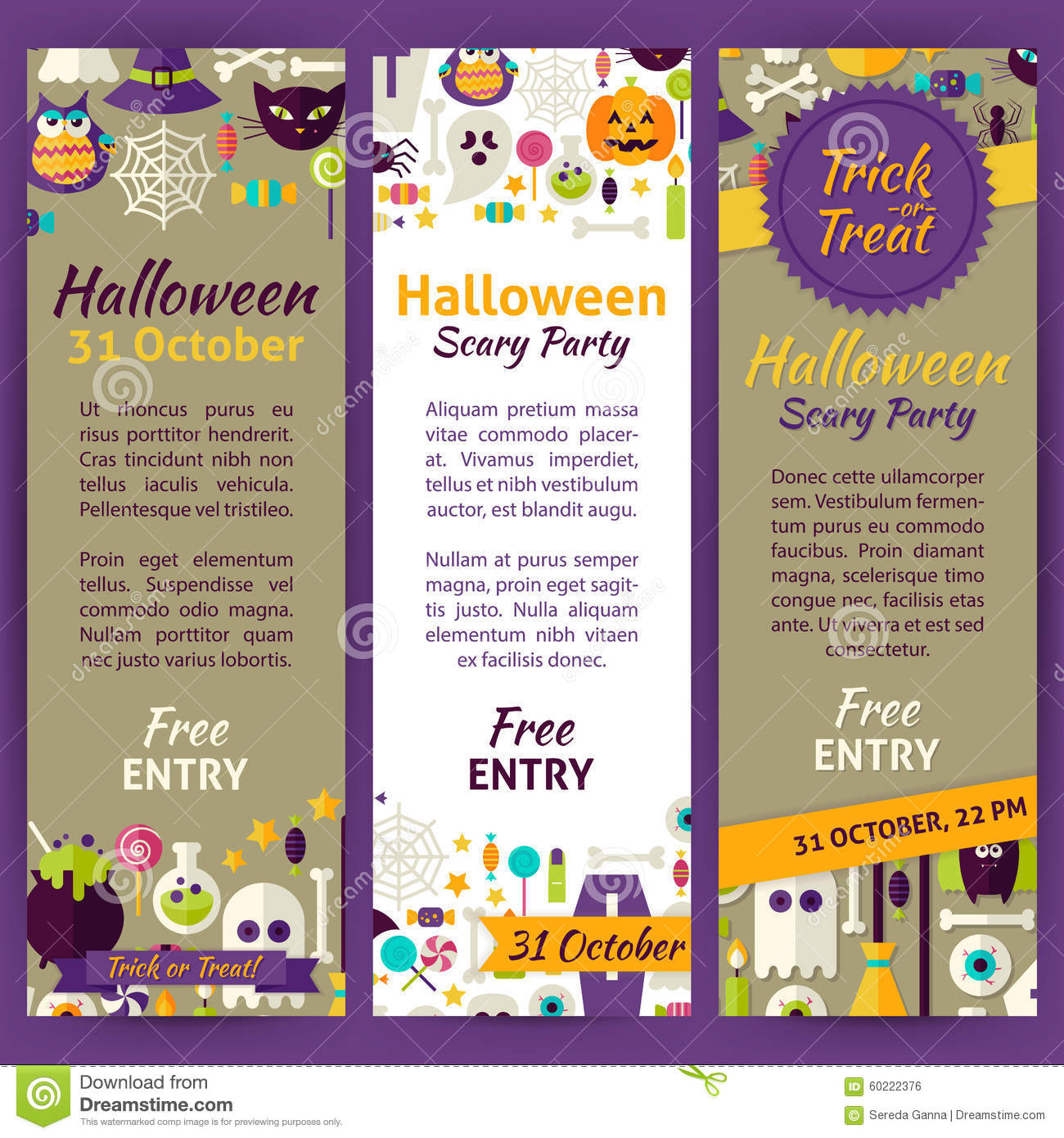 halloween party flyer invitation template stock vector image trick or treat halloween party invitation vector template flyer royalty stock image