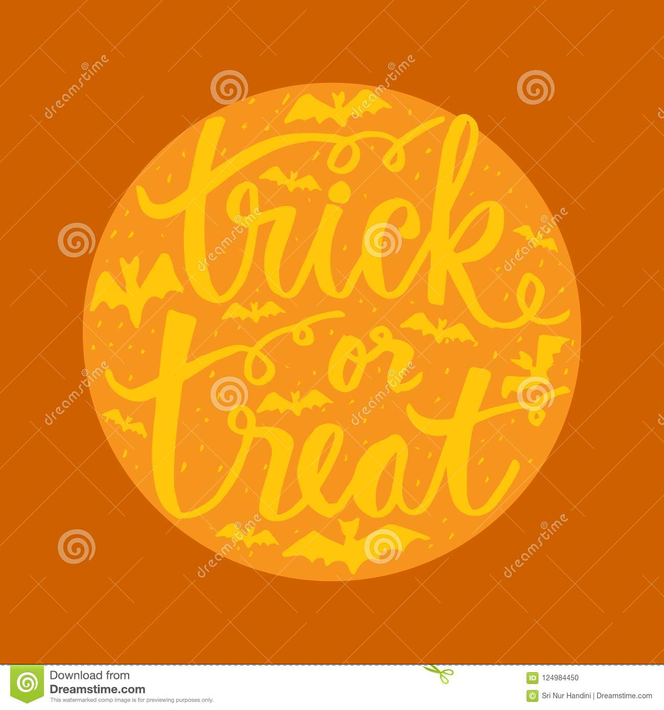 Trick or treat hand lettering stock illustration illustration of trick or treat hand lettering for greeting cards posters shirts design banners m4hsunfo