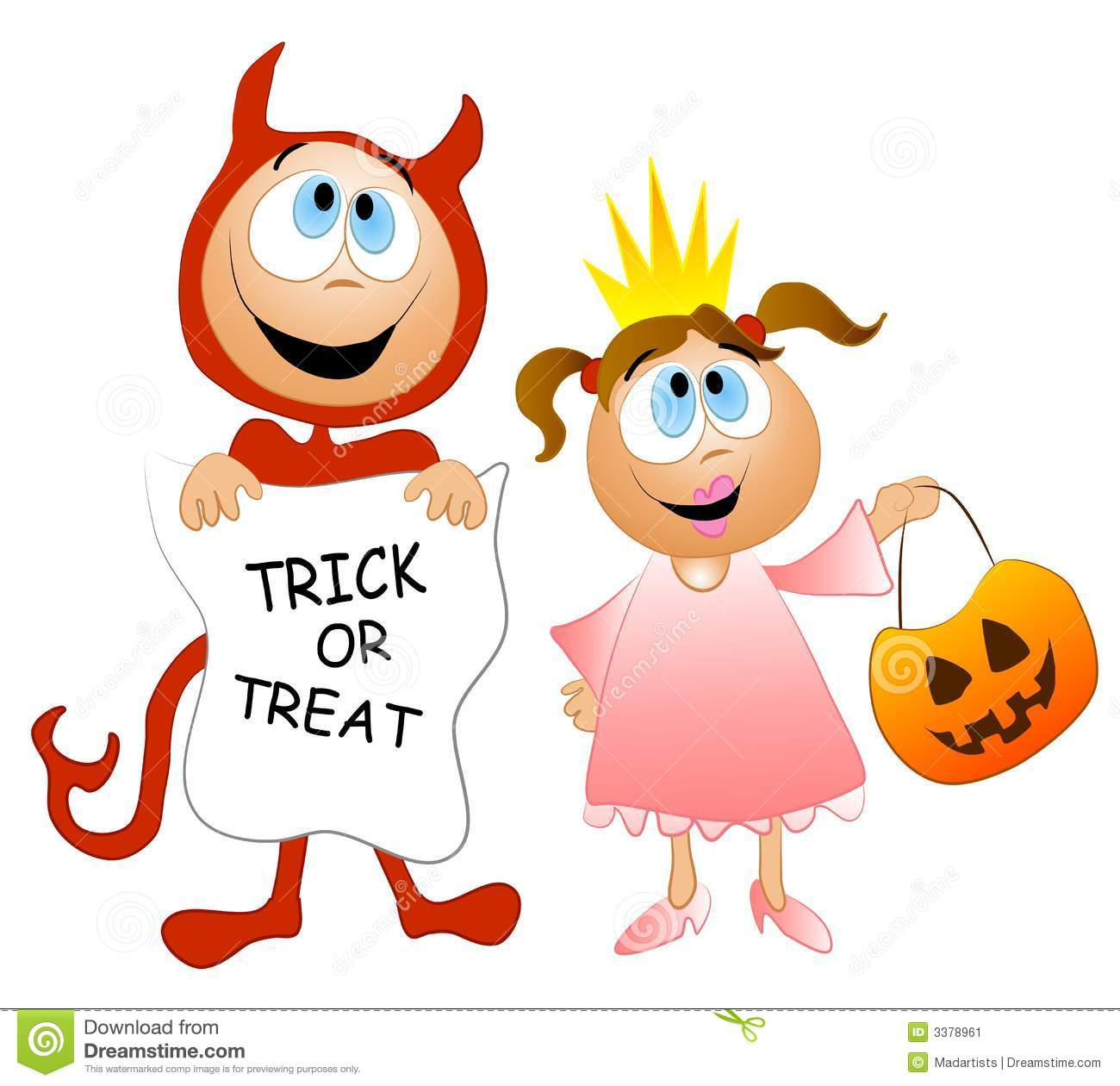 Trick or Treat Clip Art