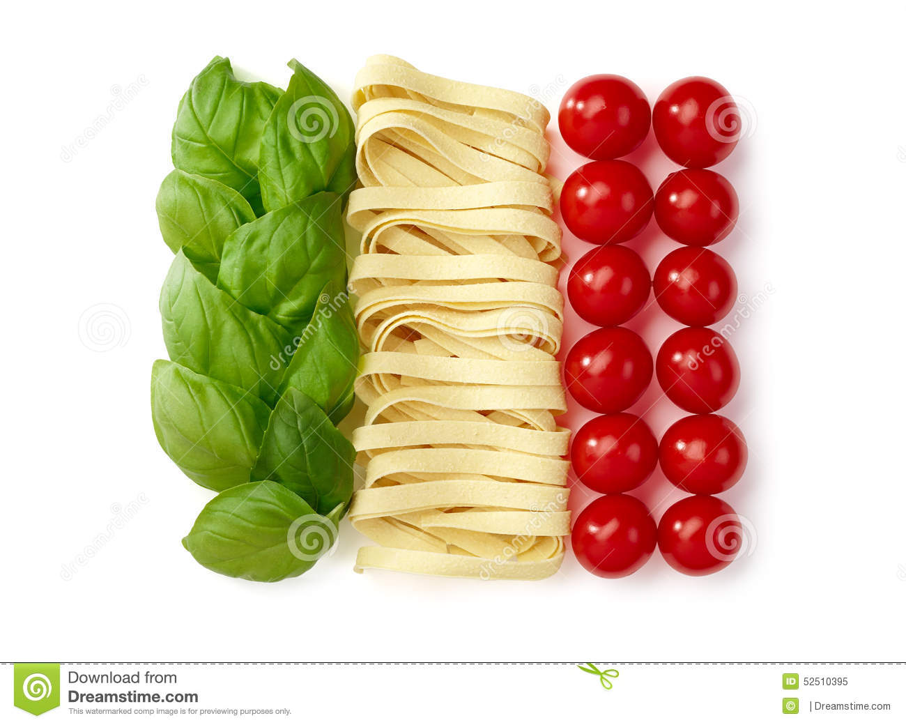 tricolore italian food stock image image of italy details 52510395