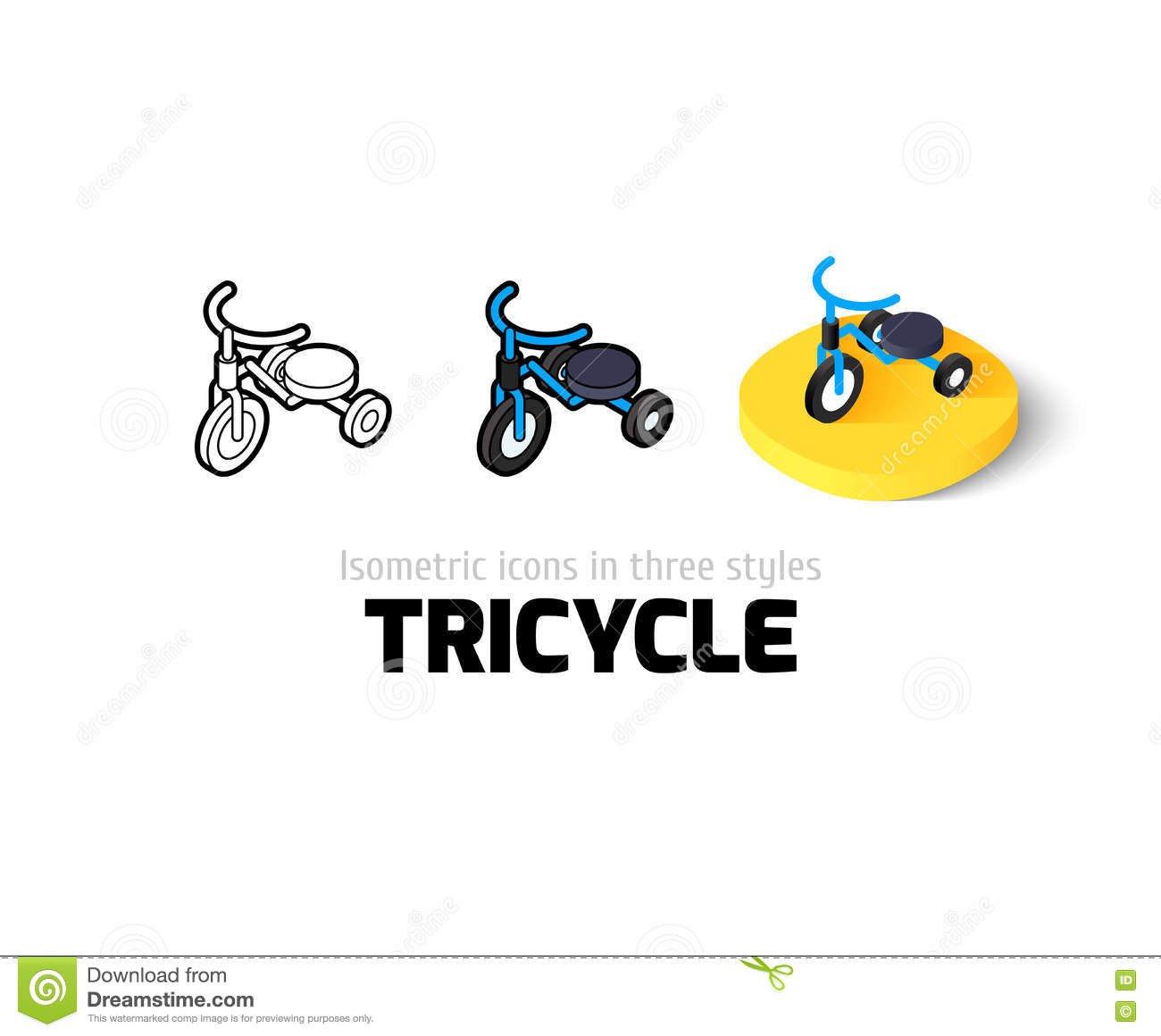 Children Bicycle Icon, Flat Style Vector Illustration ...