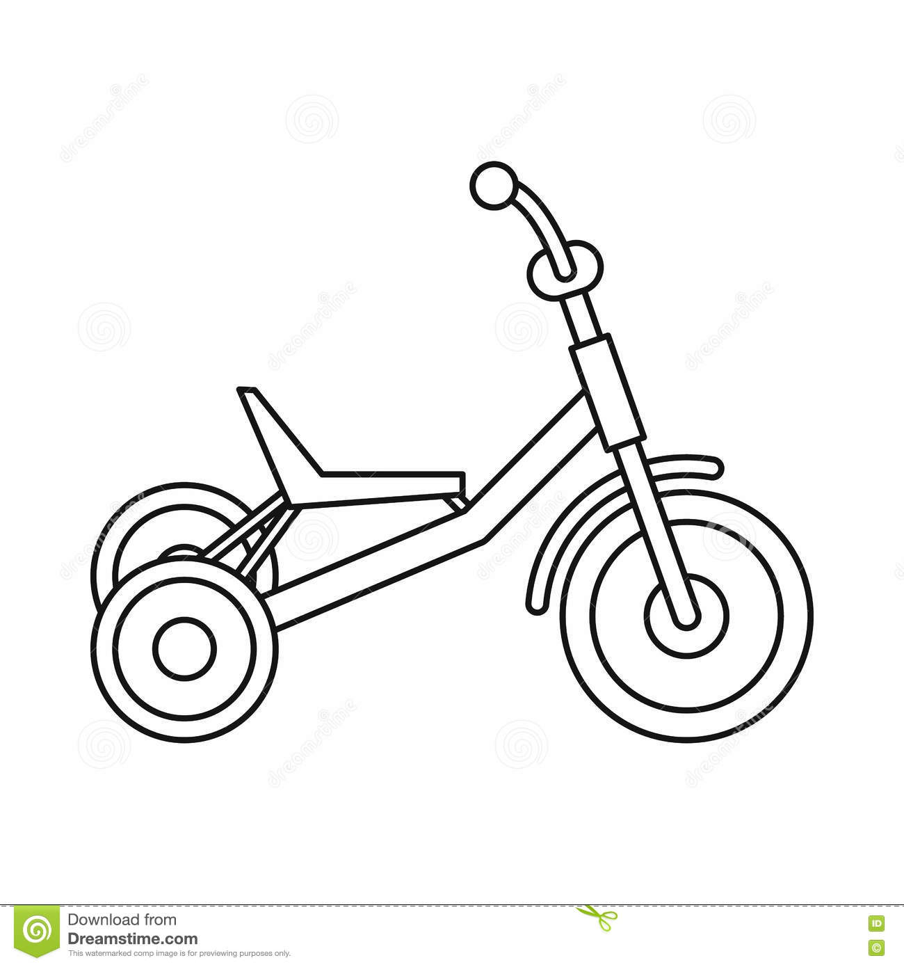 Tricycle Icon Outline Style Stock Vector Image 81455815