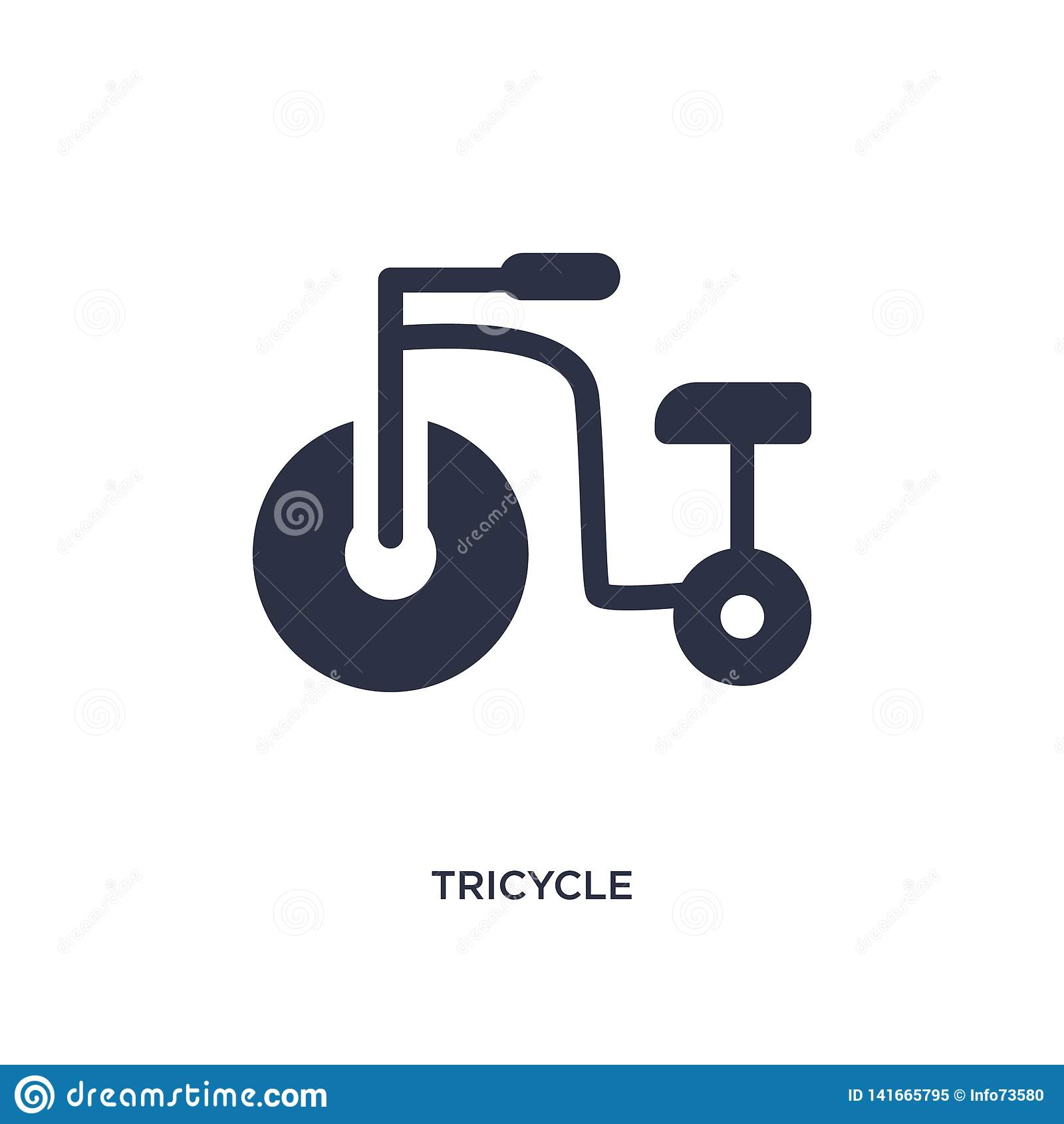 tricycle icon on white background. Simple element illustration from kid and baby concept