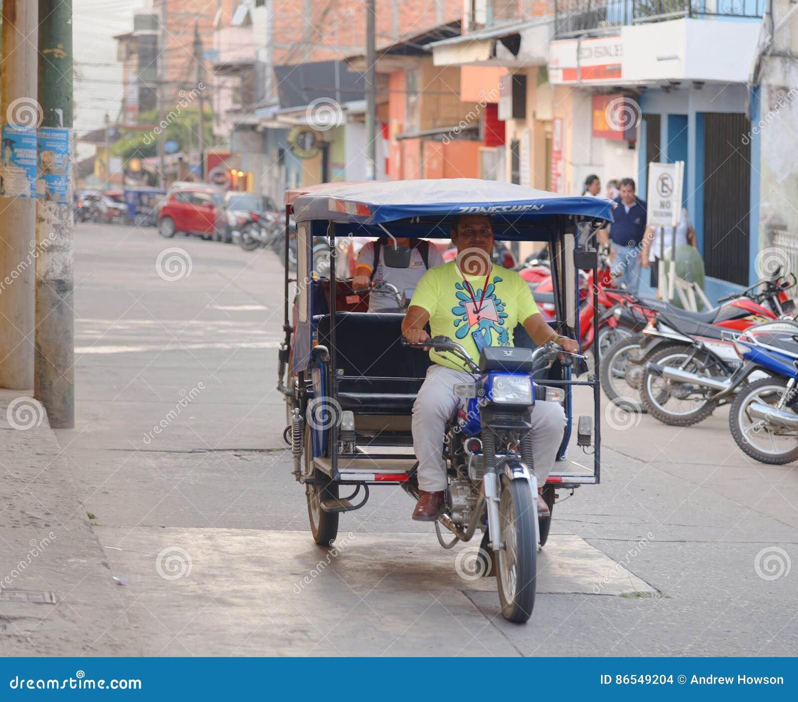 Tarapoto, Peru: Tricycle Motor Taxi, Editorial Stock Image