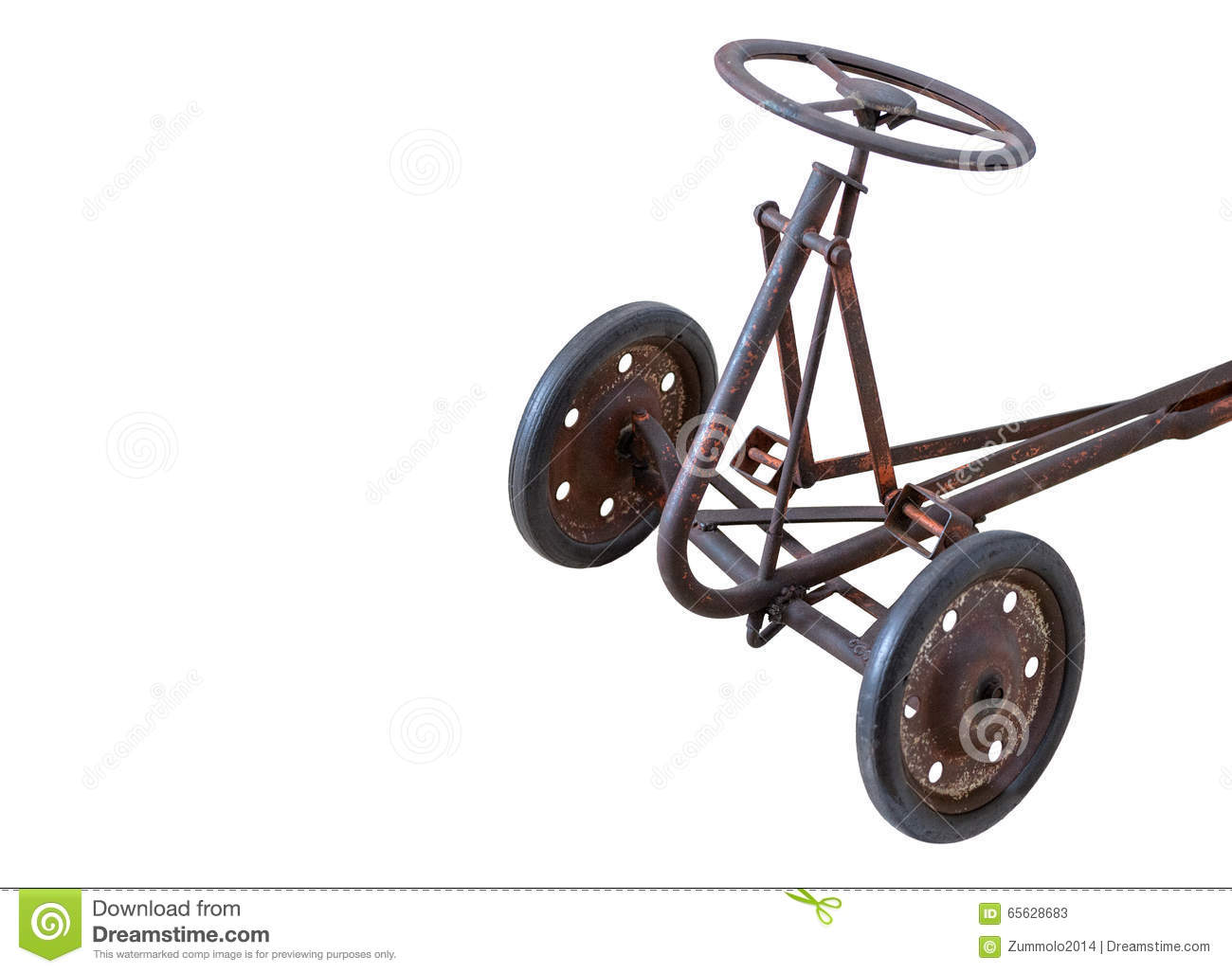 Tricycle rouillé