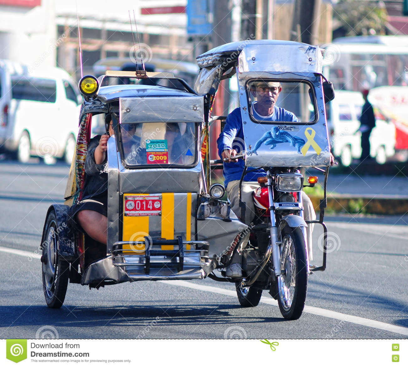A Tricycle Running On Street In Cebu Philippines Editorial Stock Photo Image Of Street Asia 74558653