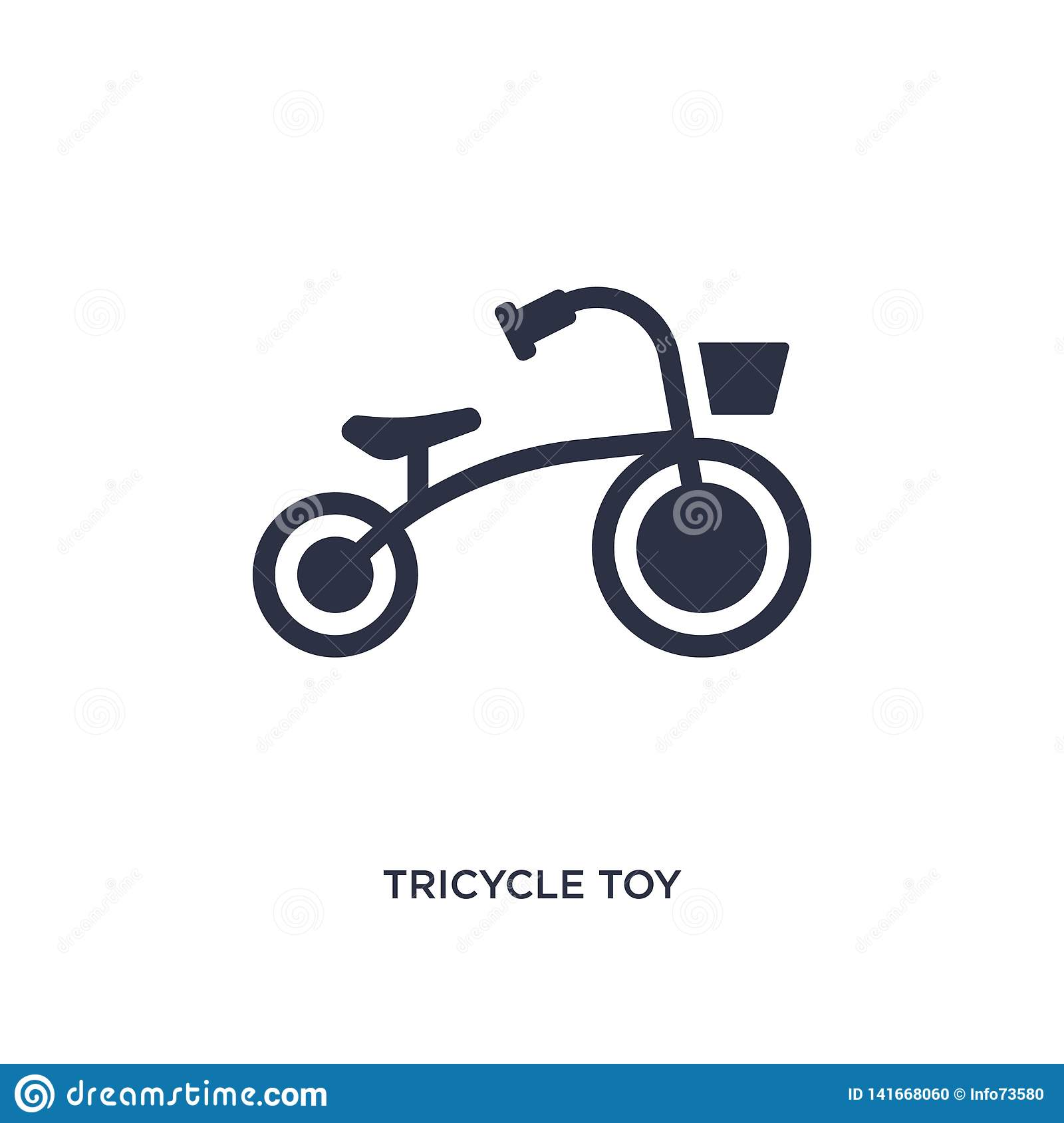 tricycle toy icon on white background. Simple element illustration from toys concept