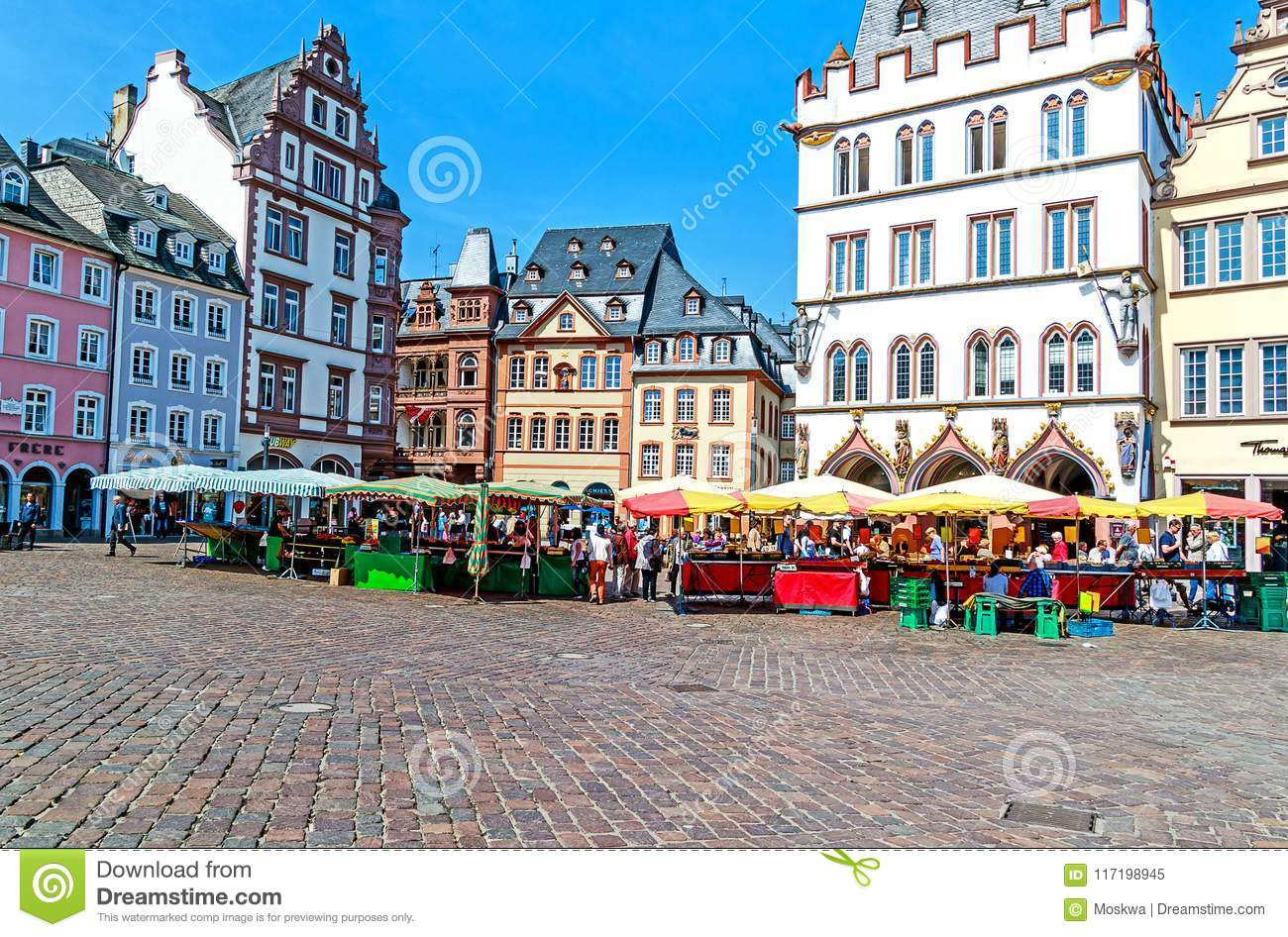 Picturesque Main Market In Trier The Oldest German City Germany Editorial Image Image Of German Building 117198945