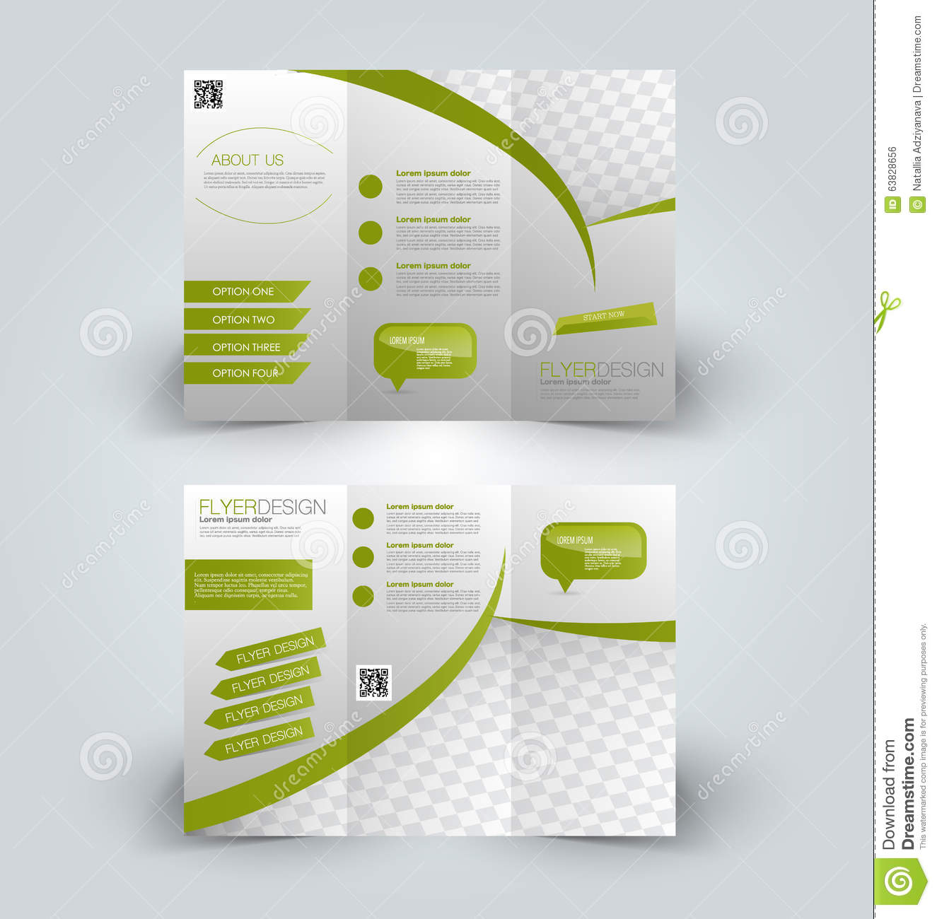 Trifold business brochure leaflet template stock vector download comp cheaphphosting Image collections
