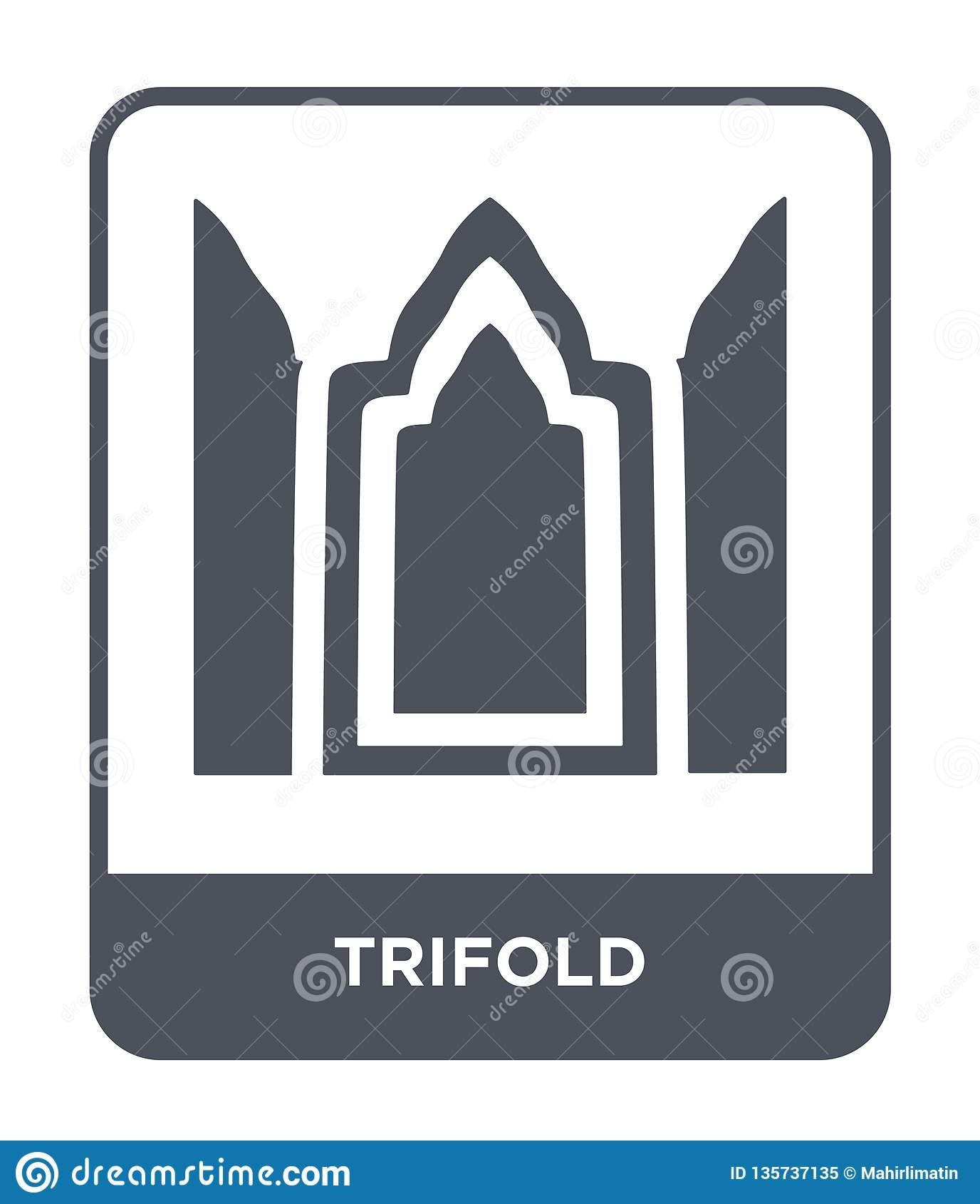 trifold icon in trendy design style. trifold icon isolated on white background. trifold vector icon simple and modern flat symbol