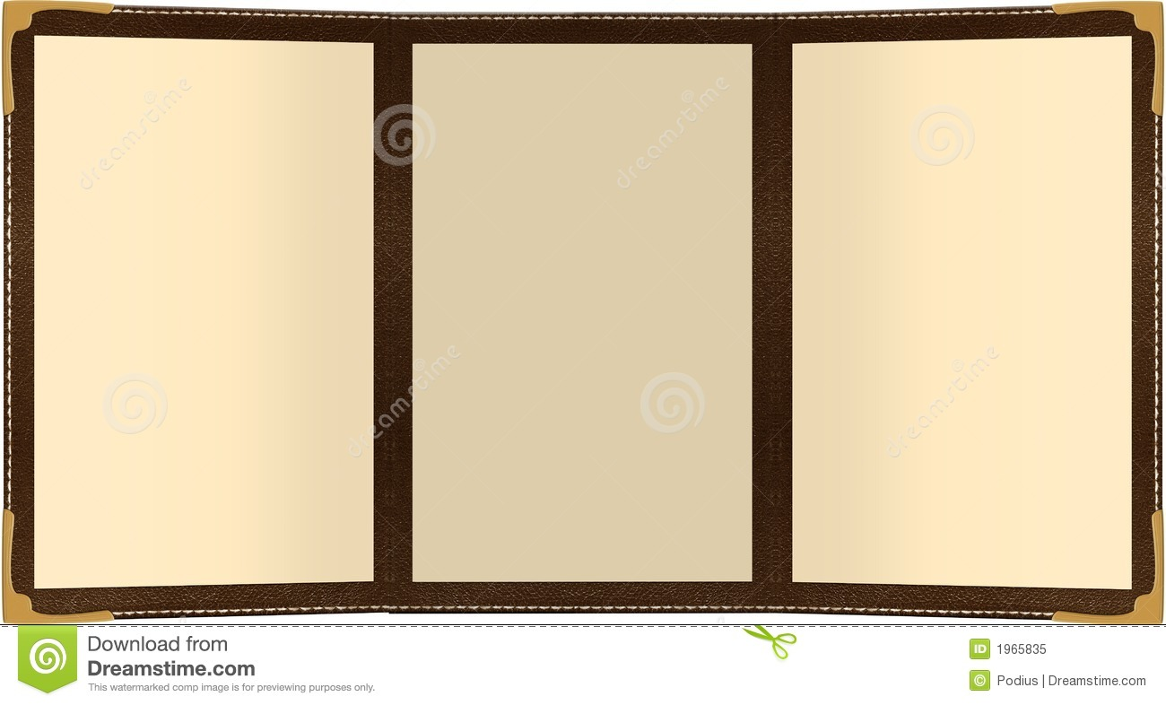Trifold Menu Stock Illustration Illustration Of Food 1965835