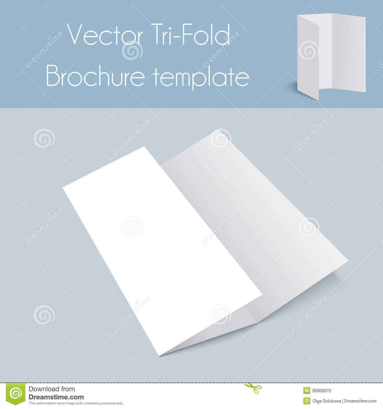Trifold&Spa Brochure&Mock Up