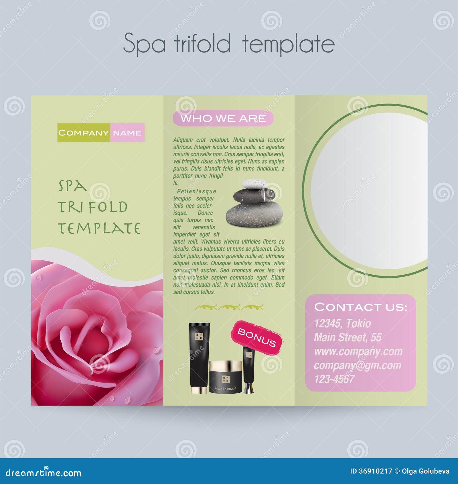 Trifold&Spa Brochure&Mock Up