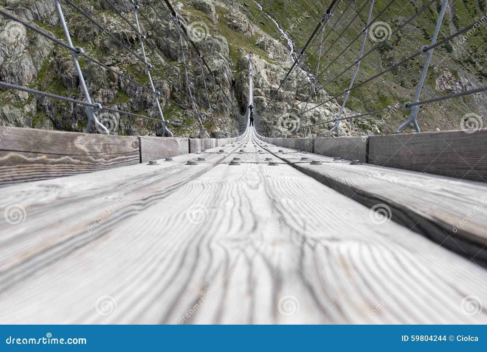 Trift Bridge, Switzerland stock photo  Image of river - 59804244