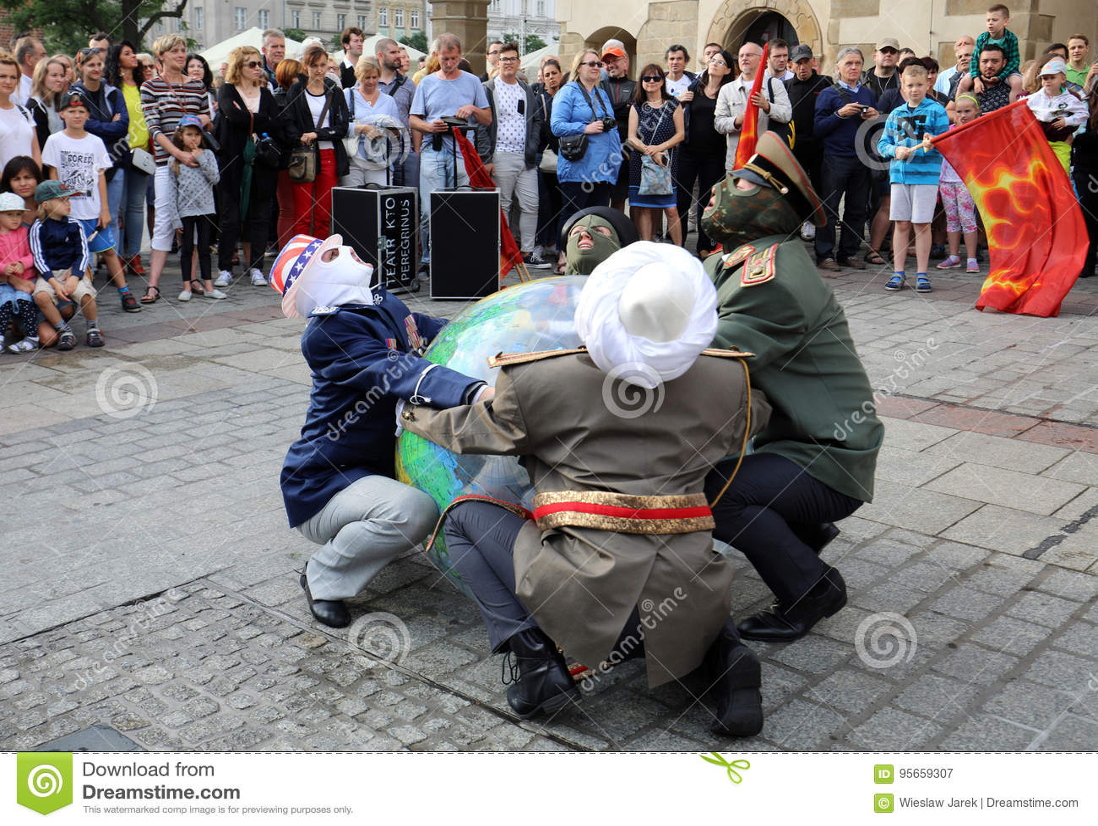 Trigésima calle - festival internacional de los teatros de la calle en Cracovia, Polonia