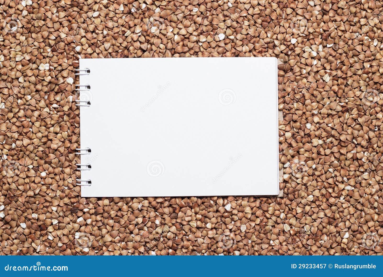 Download Trigo Mourisco Com Bloco De Notas Vazio Imagem de Stock - Imagem de edible, cultura: 29233457