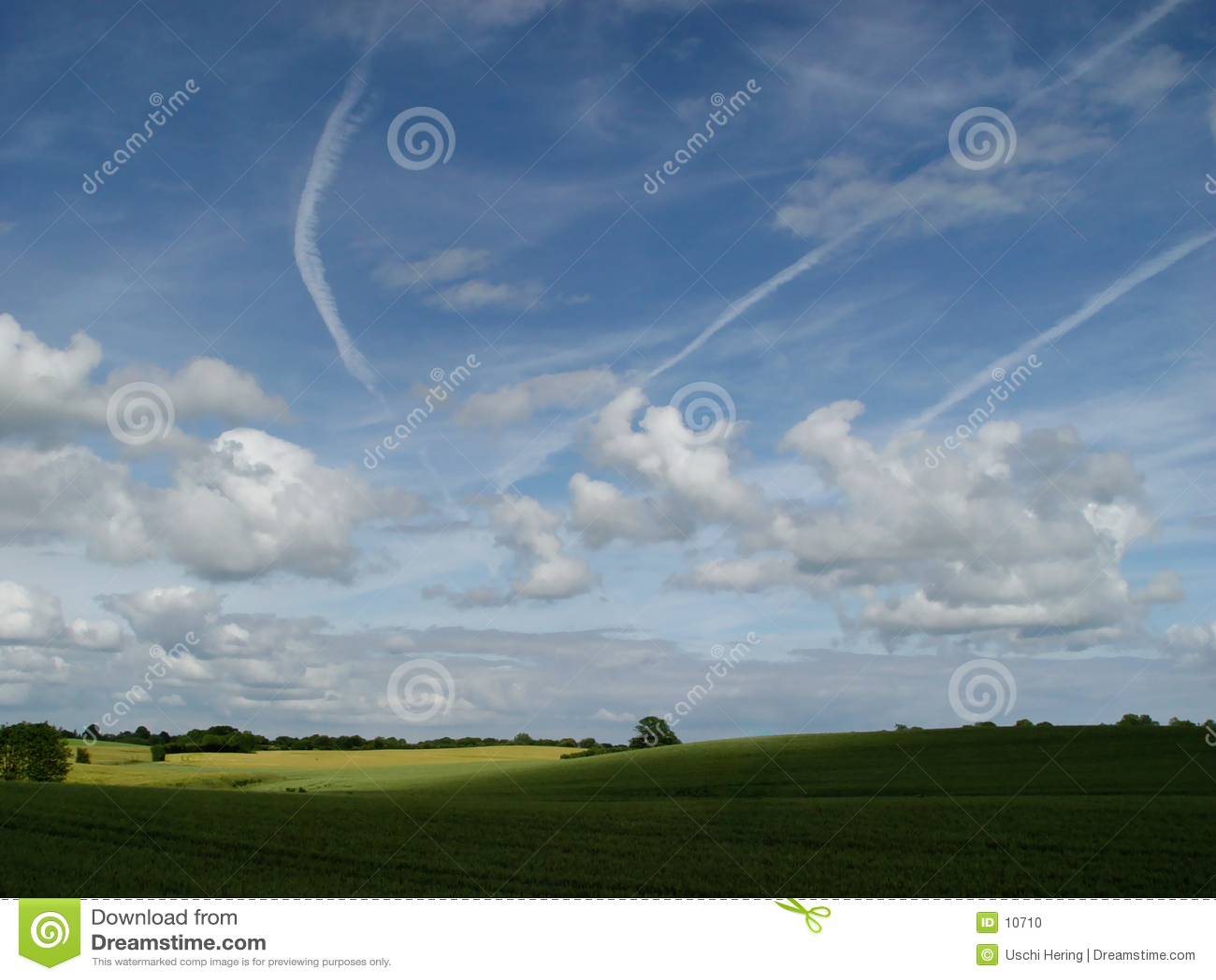 Trigo + nuvens