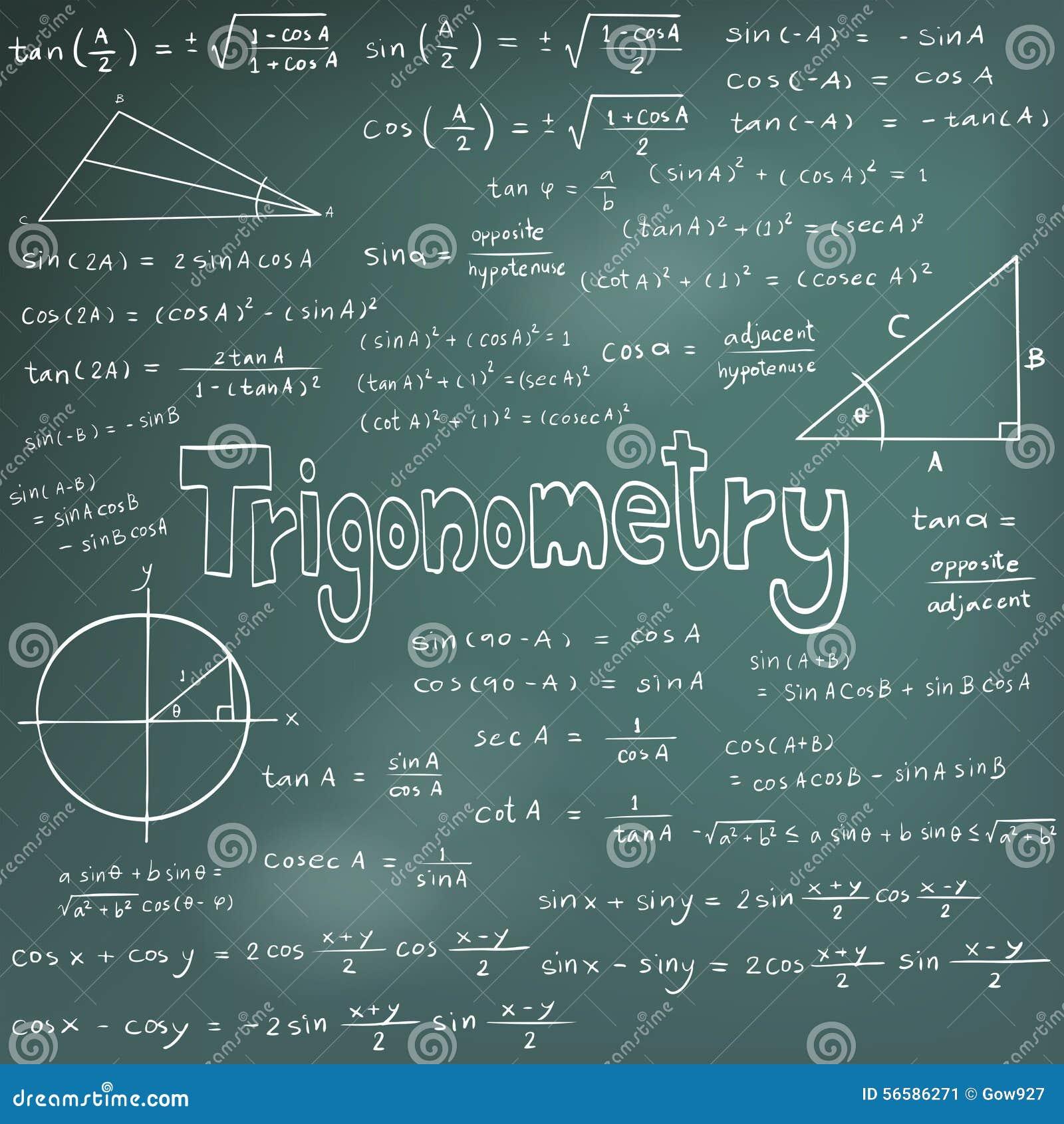 Trigonometry Theory Stock Illustrations 319 Trigonometry