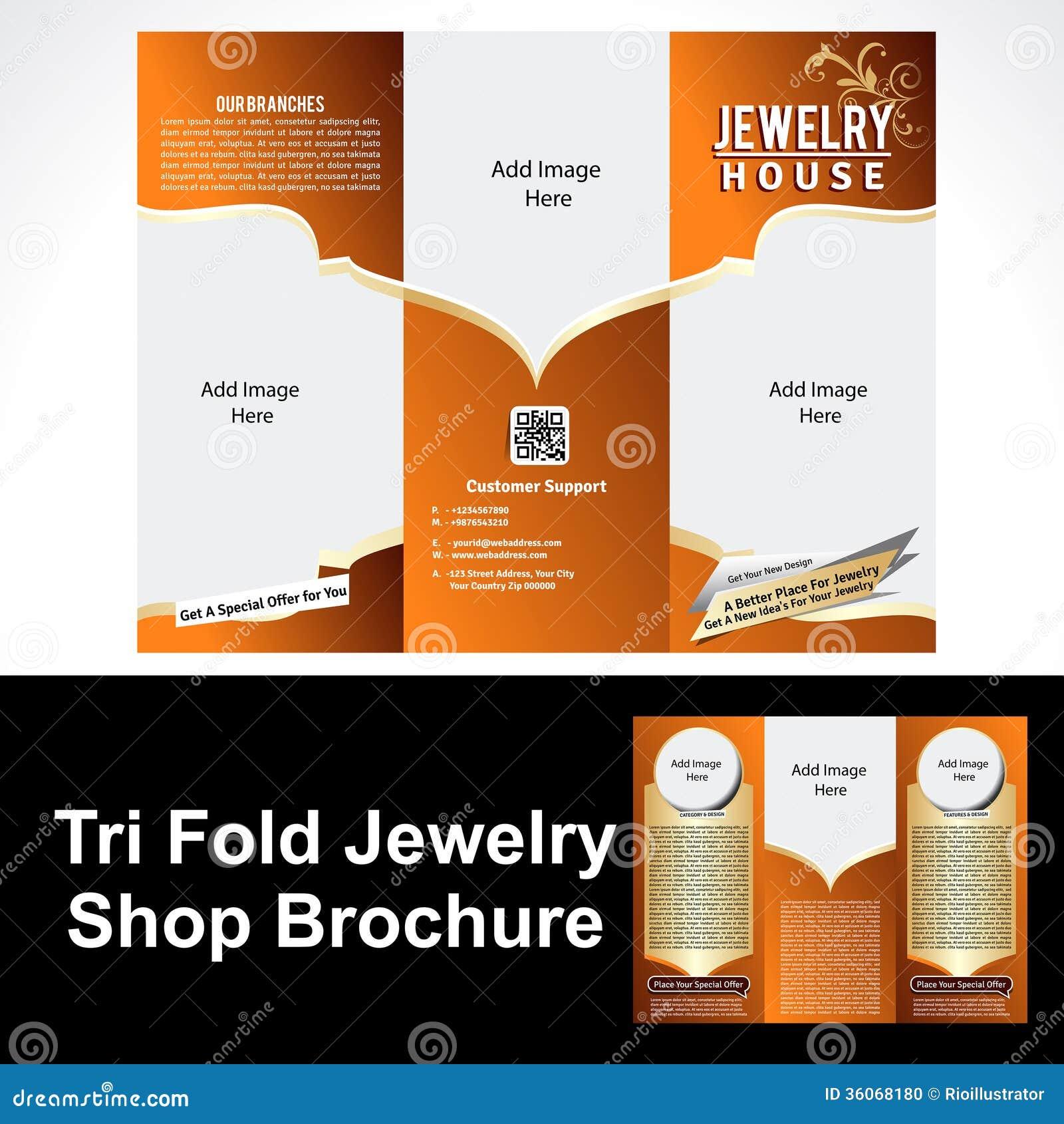 Tril Fold Jewelry Shop Brochure Stock Photo Image 36068180