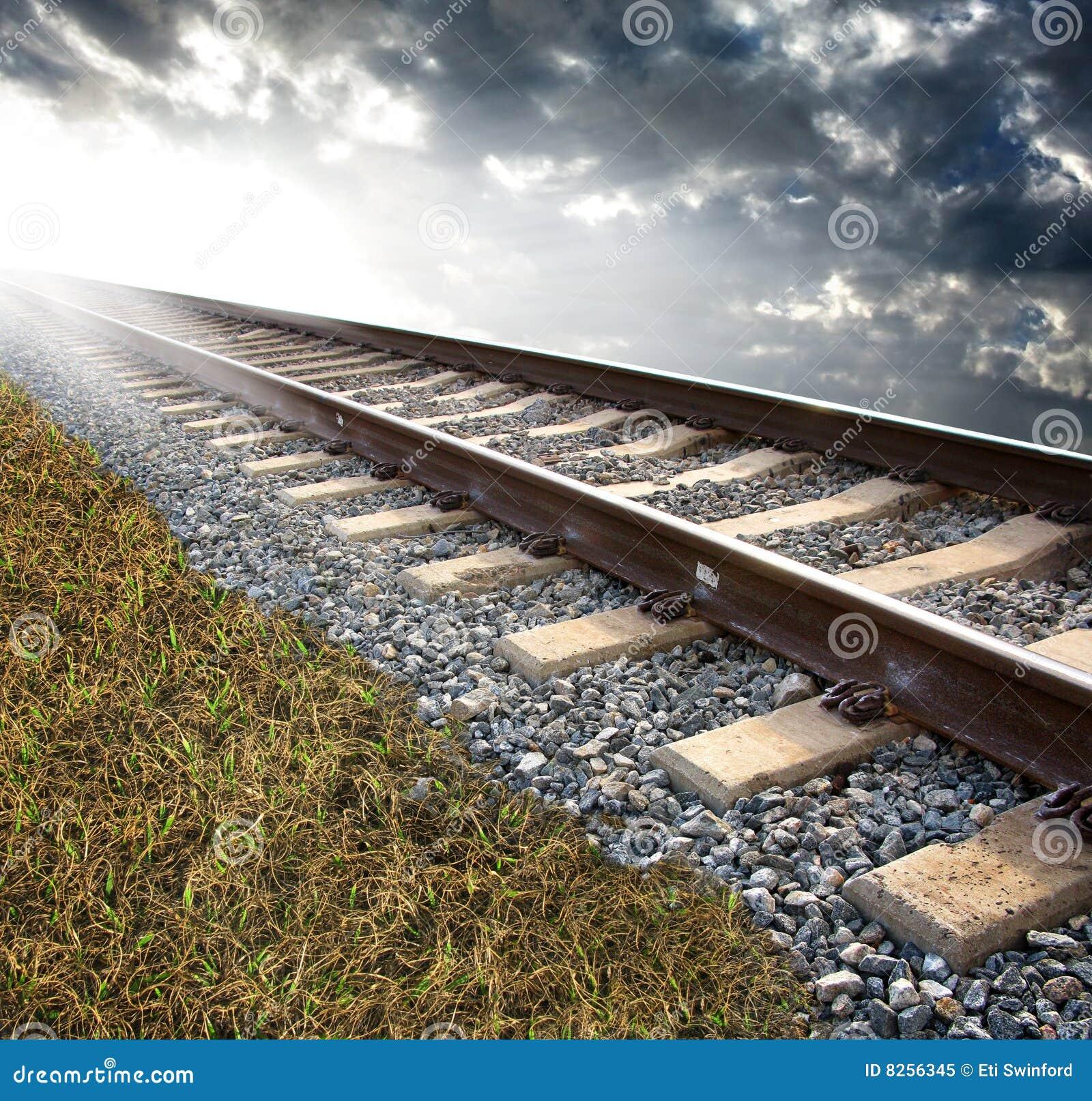 Trilhas de estrada de ferro
