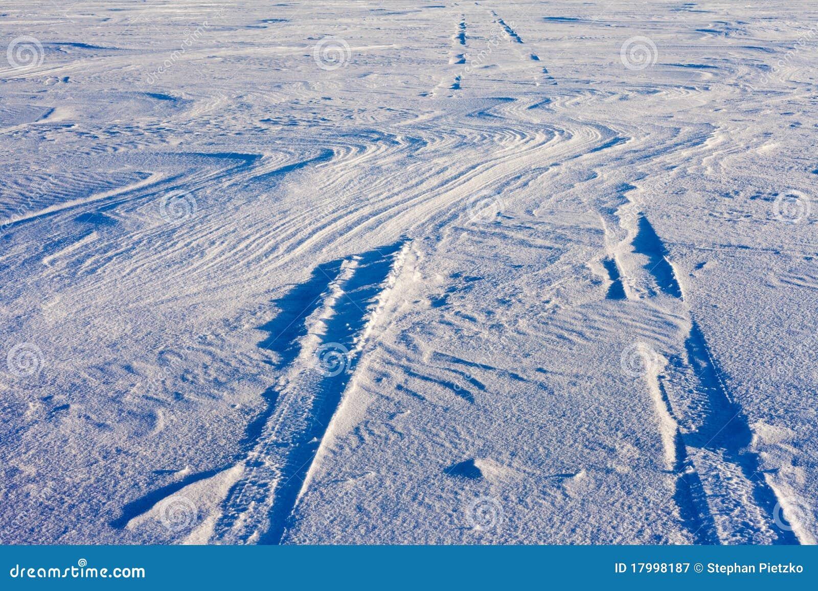 Trilhas do Snowdrift e do pneu