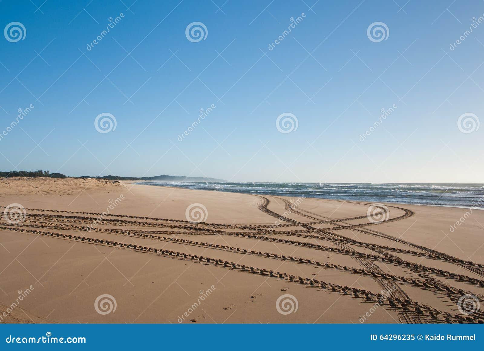 Trilhas na praia