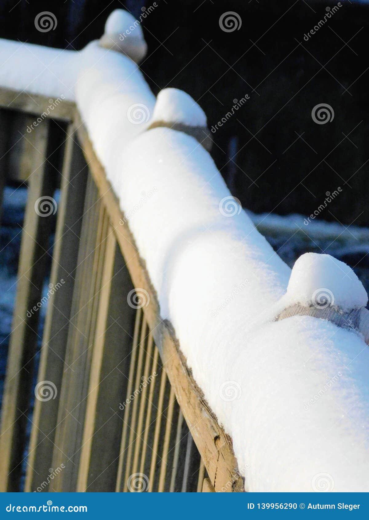 Trilhos nevados