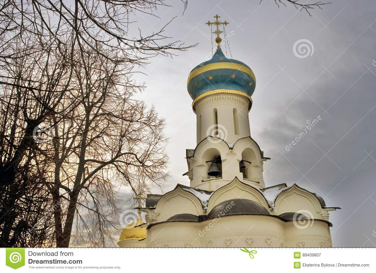 Trindade Sergius Lavra em Sergiyev Posad, região de Moscou, Rússia
