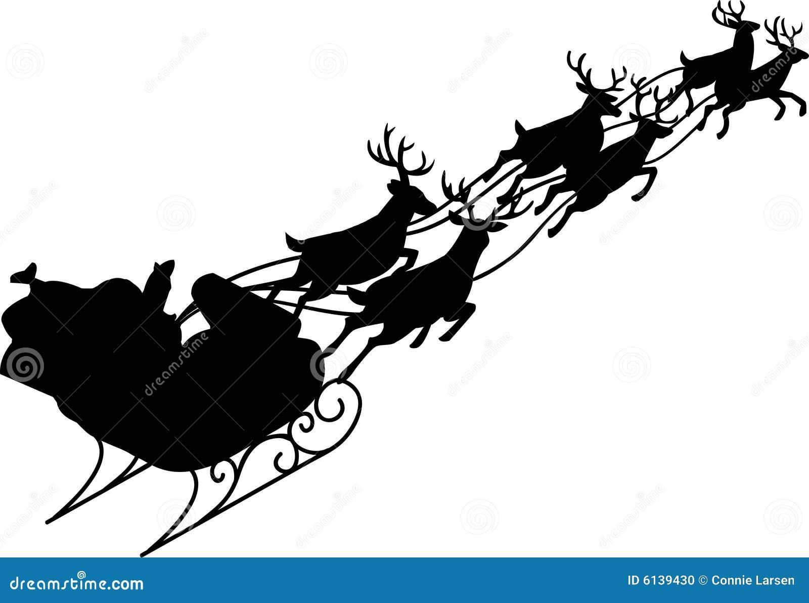 Trineo de Papá Noel y del reno