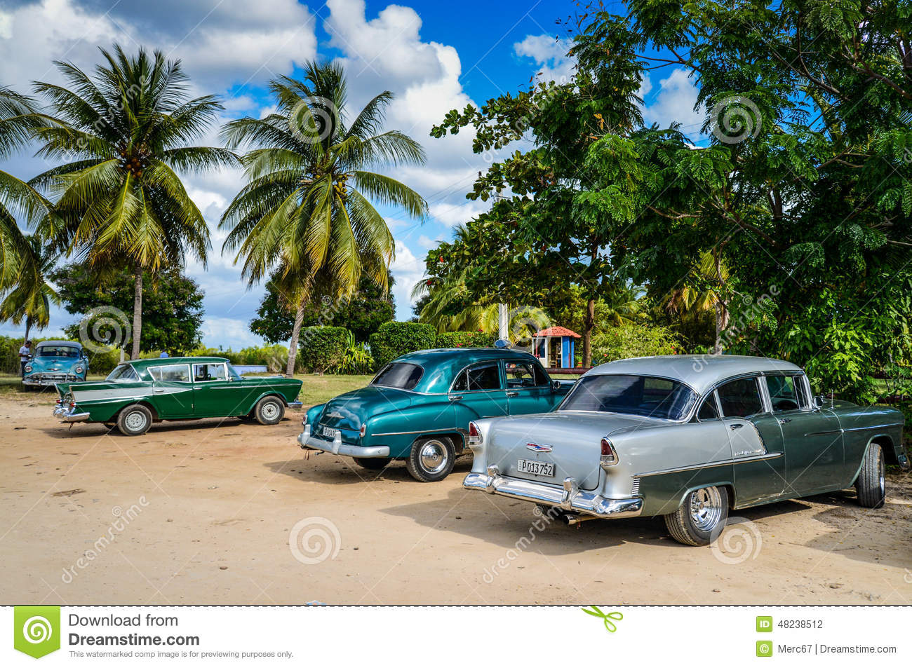 Old Classic Car Beach Cuba Stock Photos Images Pictures