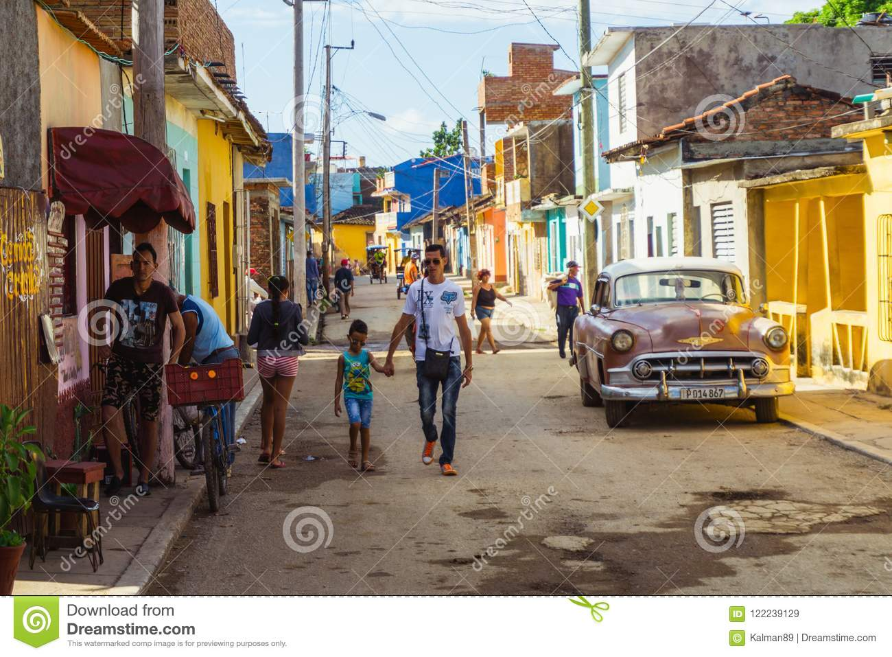 Town Of Trinidad  Cuban Lifestyle  Editorial Stock Image - Image of