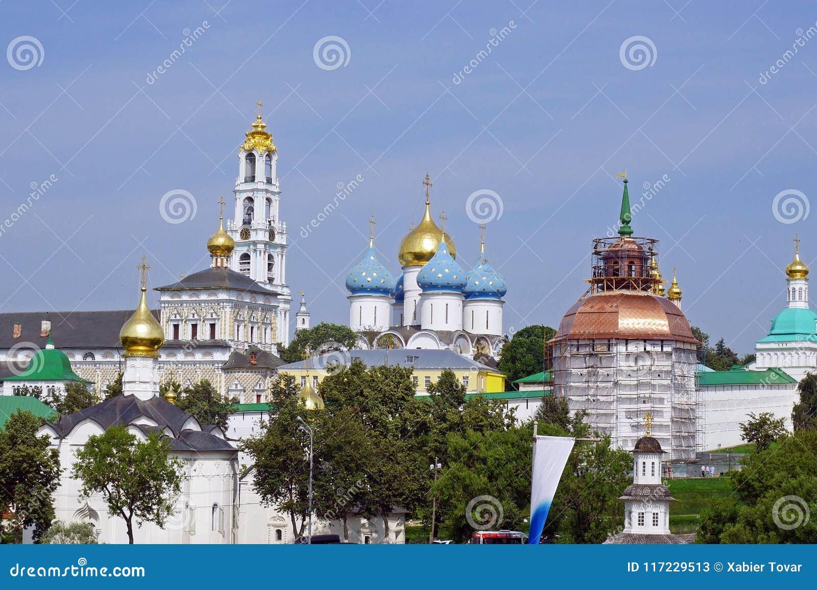 Trinidad Sergius Lavra en Sergiev Posad, Rusia