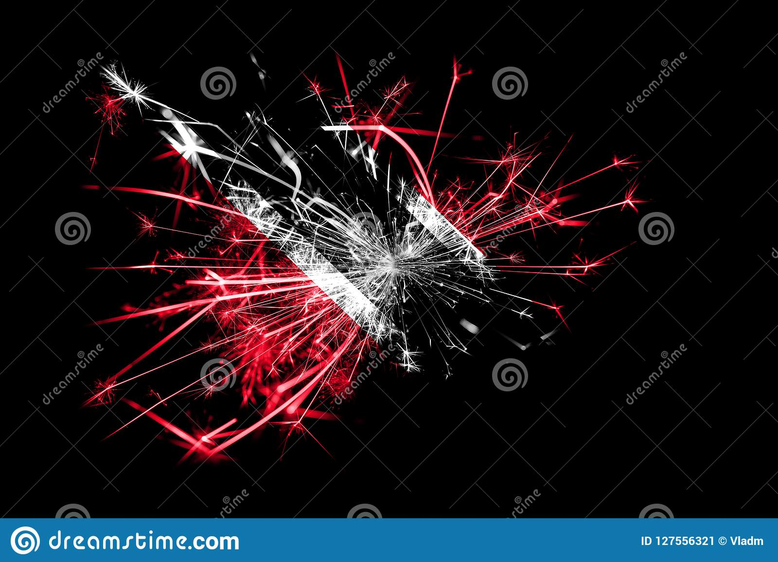 Christmas Party 2019 Clipart.Trinidad And Tobago Fireworks Sparkling Flag New Year 2019