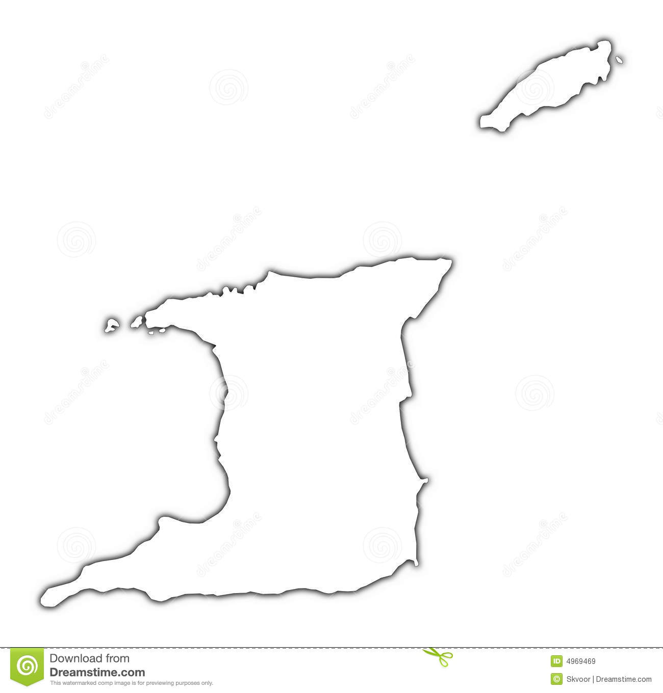 Trinidad and Tobago map stock illustration. Illustration of raster ...