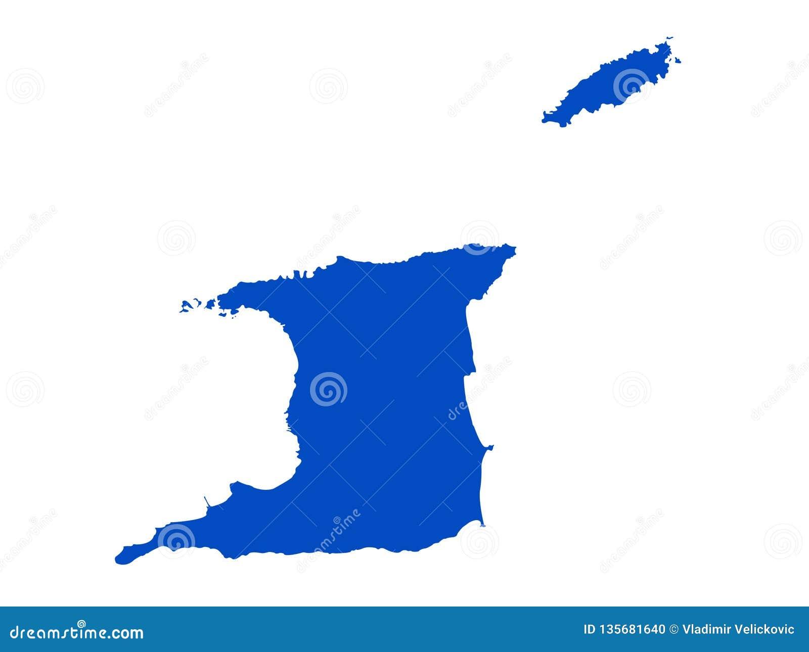 Trinidad And Tobago Map - Republic Of Trinidad And Tobago ...