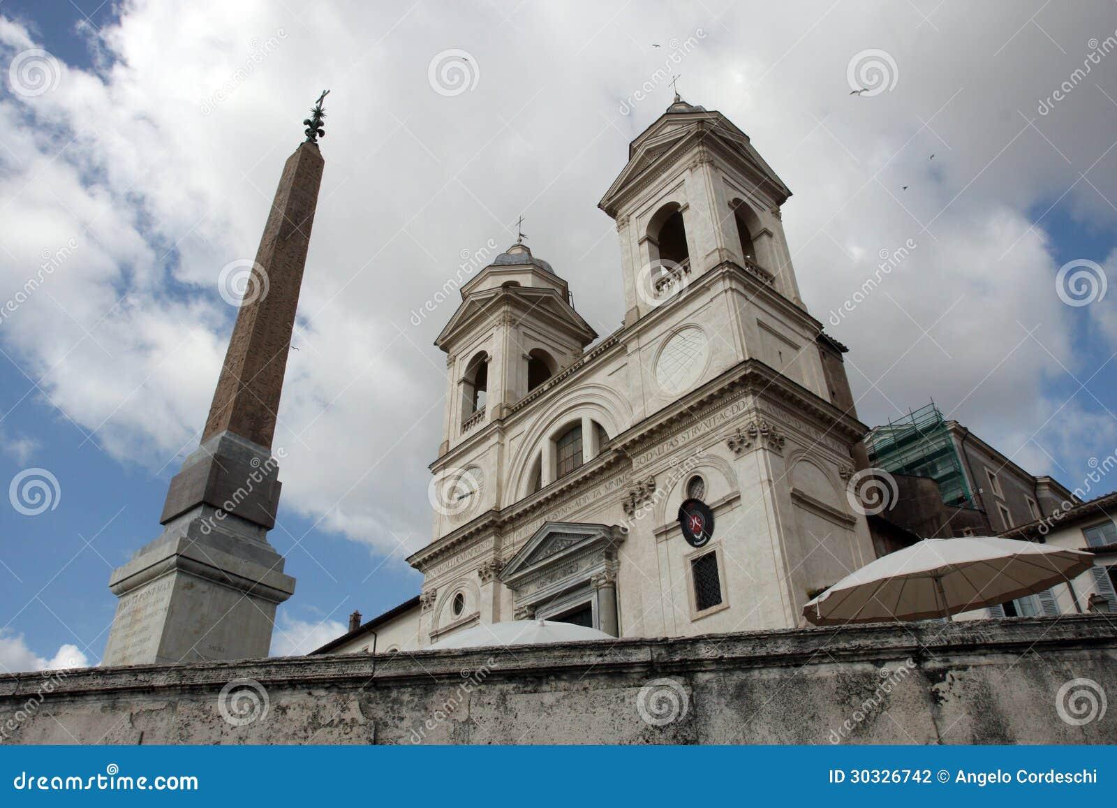 Trinità dei Monti,罗马。意大利